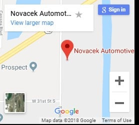 Novacek Automotive Google Map Image